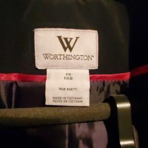 Black Worthington trench coat